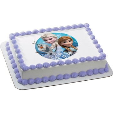 Disney Frozen Quarter Sheet Edible Cake Topper (Each)