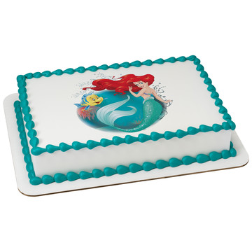 Disney Little Mermaid Quarter Sheet Edible Cake Topper (Each)
