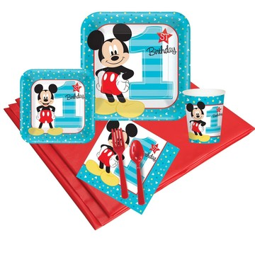 Disney Mickey Mouse 1st Birthday 24 Guest Party Pack