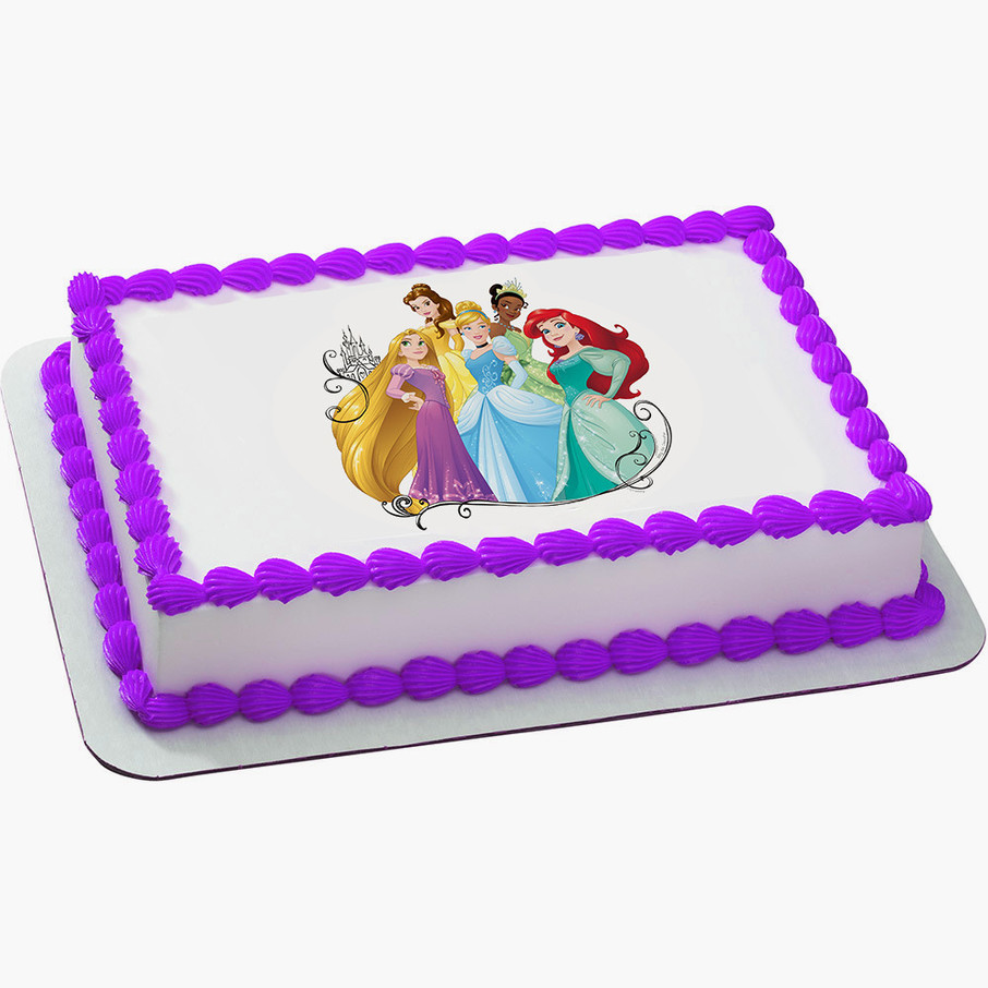 View larger image of Disney Princess Dream Quarter Sheet Edible Cake Topper (Each)