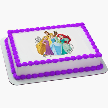 Disney Princess Dream Quarter Sheet Edible Cake Topper (Each)