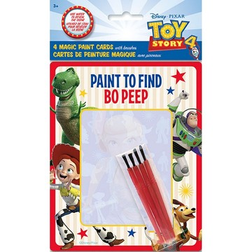 Disney's Toy Story 4 Magic Watercolor Paint Favor Card w/ Brush, 4ct