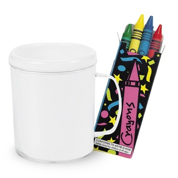 DIY Decorate a Mug and Crayons Kit (12 Count)