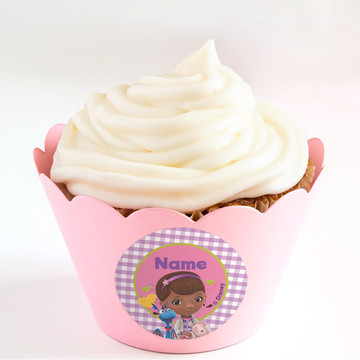 Doc McStuffins Personalized Cupcake Wrappers (Set of 24)