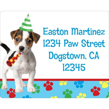 Dog Party Personalized Address Label