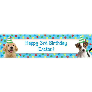 Dog Party Personalized Banner (each)