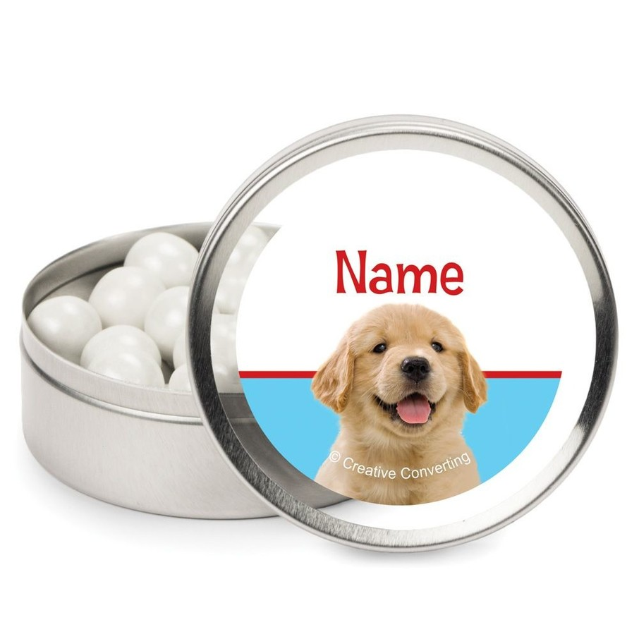 View larger image of Dog Party Personalized Candy Tins (12 Pack)