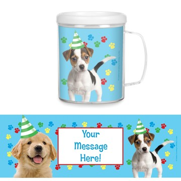 Dog Party Personalized Favor Mugs (Each)