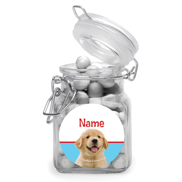 Dog Party Personalized Glass Apothecary Jars (12 Count)