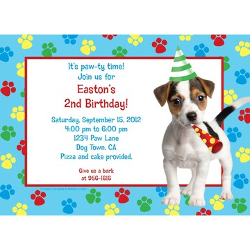 Dog Party Personalized Invitation (each)