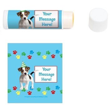 Dog Party Personalized Lip Balm (12 Pack)