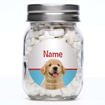 Dog Party Personalized Mason Style Jar (Set of 12)