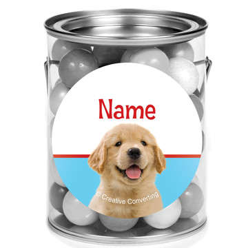 Dog Party Personalized Mini Paint Cans (12 Count)