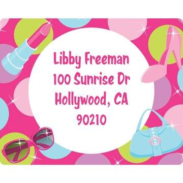 Doll Party Personalized Address Label