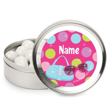 Doll Party Personalized Candy Tins (12 Pack)