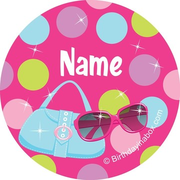 Doll Party Personalized Mini Stickers (Sheet of 24)