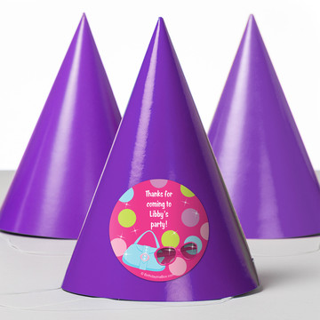 Doll Party Personalized Party Hats (8 Count)