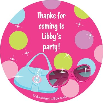 Doll Party Personalized Sticker
