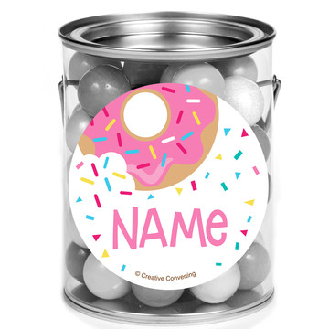 Donut Personalized Mini Paint Cans (12 Count)