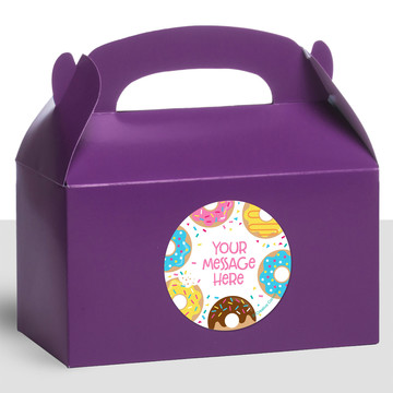 Donut Personalized Treat Favor Boxes (12 Count)