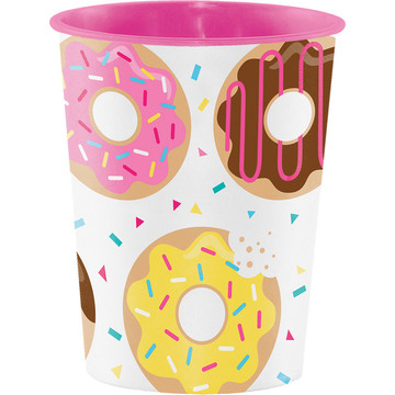 Donut Time 16oz Plastic Favor Cup (Each)