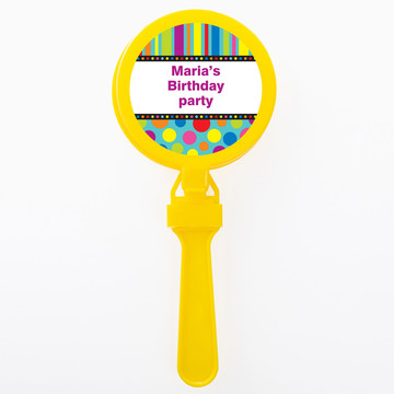 Dots And Stripes Personalized Clappers (Set Of 12)