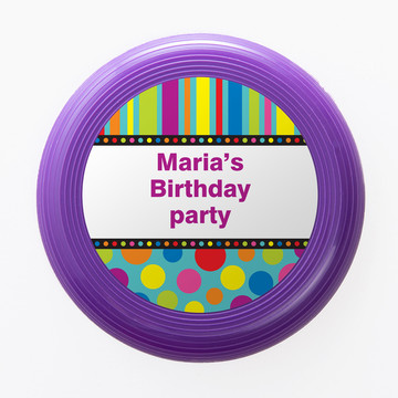Dots And Stripes Personalized Mini Discs (Set Of 12)