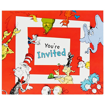 Dr. Seuss 1st Birthday Invitations