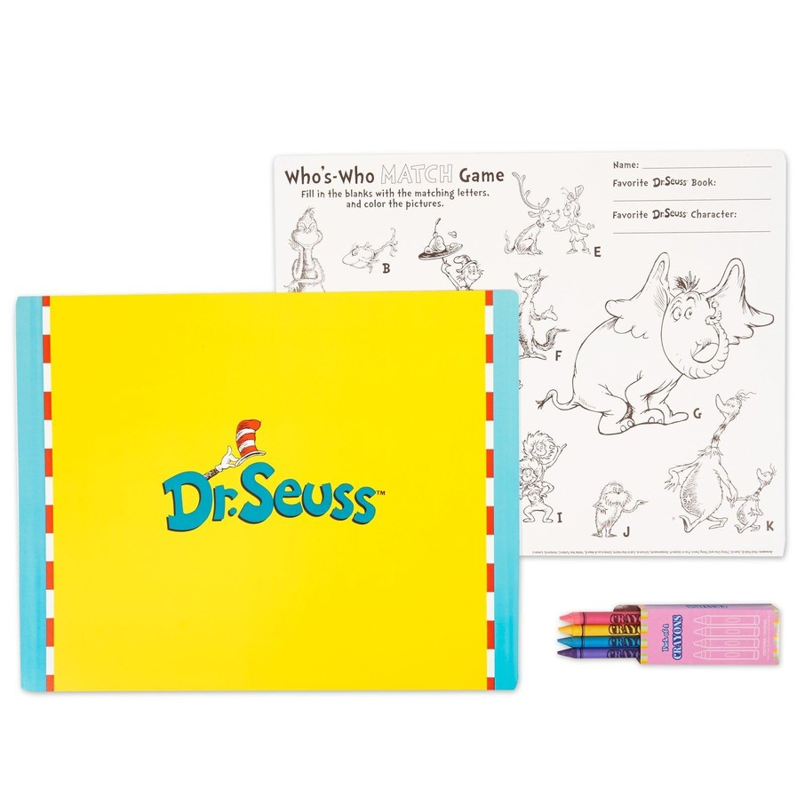 View larger image of Dr. Seuss Activity Placemat Kit for 4