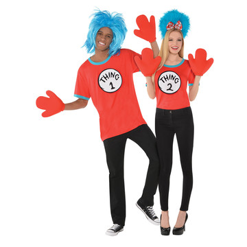 Dr. Seuss Adult Thing 1 & 2 Costume Kit