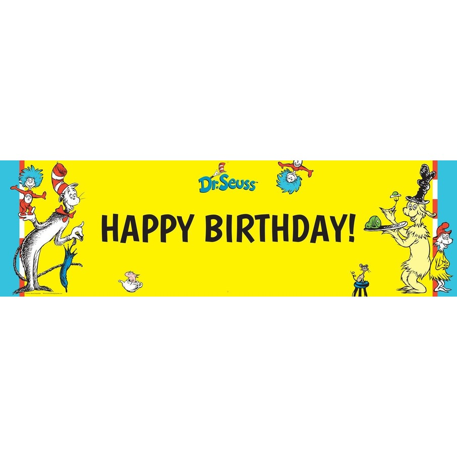 View larger image of Dr. Seuss Birthday Banner