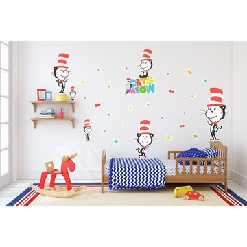 Dr. Seuss Cats Meow Cat in the Hat Giant Wall Decal