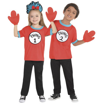 Dr. Seuss Child Thing 1 & 2 Costume Kit