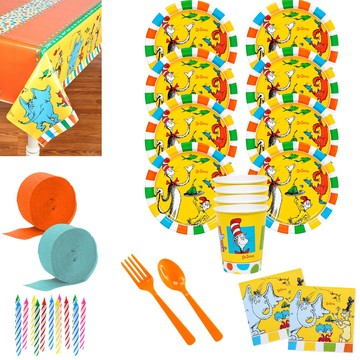 Dr. Seuss Favorites Deluxe Tableware Kit (Serves 8)