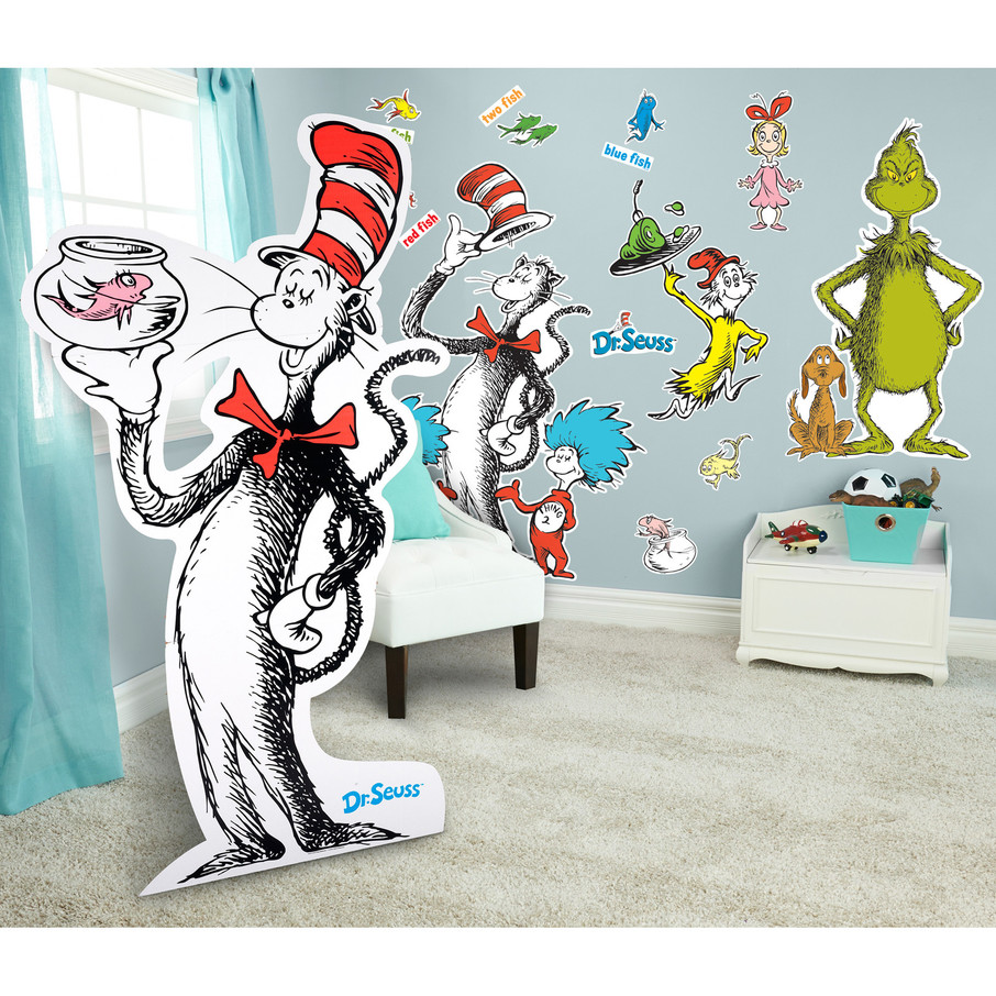 View larger image of Dr. Seuss Giant Wall Decals and Standup Kit