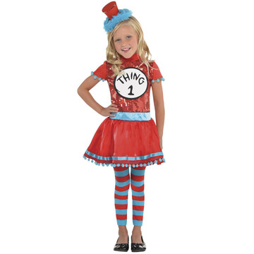 Dr. Seuss Girls Thing 1 & 2 Costume