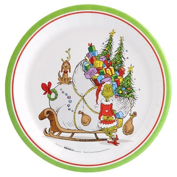 Dr. Seuss Grinch Dinner Plate (8)