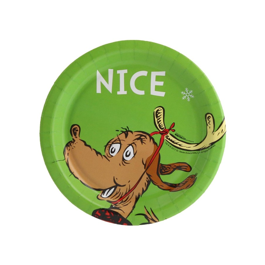 View larger image of Dr. Seuss Grinch Nice Dessert Plate (8)
