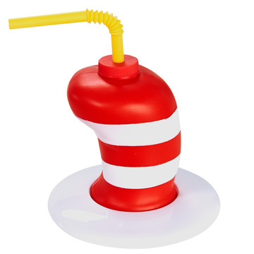 Dr. Seuss Red White Hat Molded Favor Cup