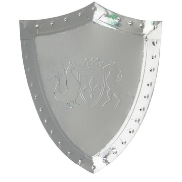 Dragon Knights Sheild Shaped Plates, 8ct