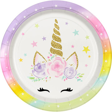 "Dreamy Unicorn 9"" Lunch Plates (8)"