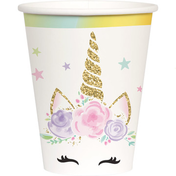 Dreamy Unicorn 9oz Cups (8)