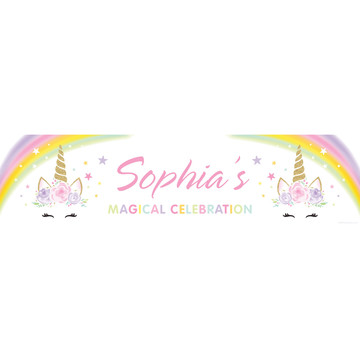 Dreamy Unicorn Personalized Banner (Each)
