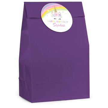 Dreamy Unicorn Personalized Favor Bag (12 Pack)