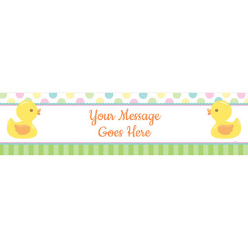 Duckie Dots Personalized Banner (Each)