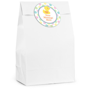 Duckie Dots Personalized Favor Bag (12 Pack)
