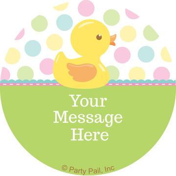 Duckie Dots Personalized Mini Stickers (Sheet of 24)