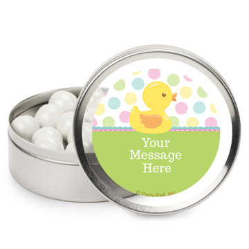 Duckie Dots Personalized Mint Tins (12 Pack)