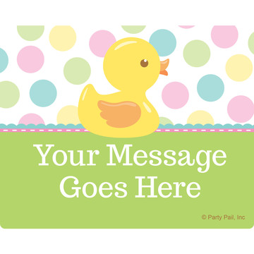 Duckie Dots Personalized Rectangular Stickers (Sheet of 15)