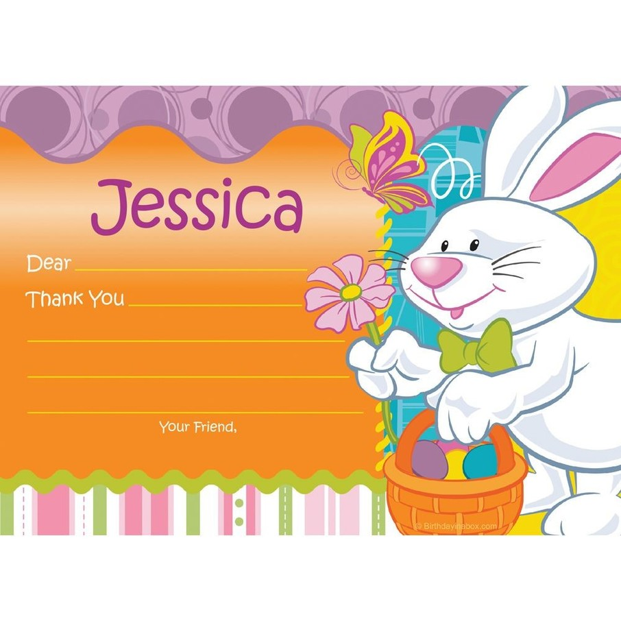 View larger image of Easter Personalized Thank You Note (Each)